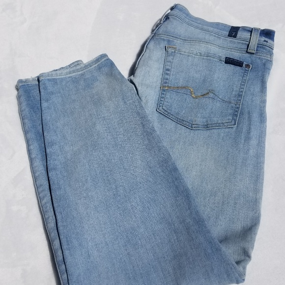 7 For All Mankind Denim - 7 For All Mankind Gwenevere Skinny Ankle Jeans